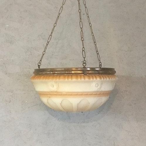Edwardian Glass Pendant Light, Ceiling Light