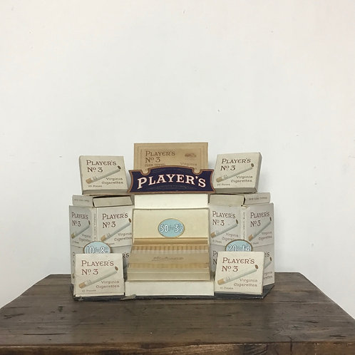 Vintage Shop Counter Advertising Display for Players Cigarettes