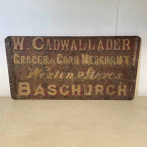 Antique Painted Wagon Advertising Signage