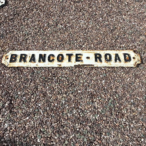 Victorian Cast Iron Street Sign