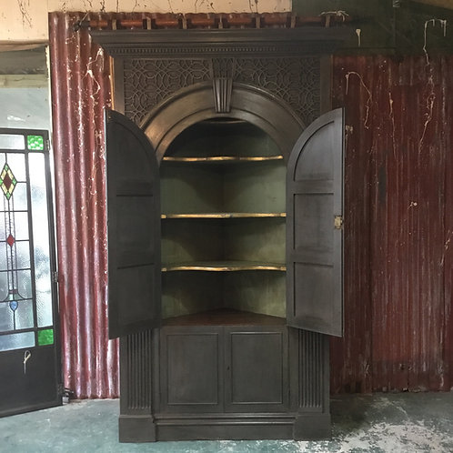 Georgian Oak Painted Corner Cupboard