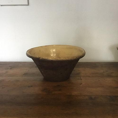 Victorian Glazed Stoneware Dairy Bowl