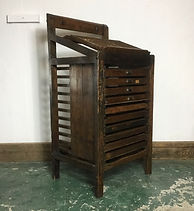 Victorian Printers Tray Cabinet