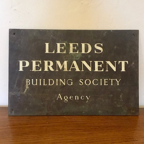 Leeds Building Society Brass Wall Plaque
