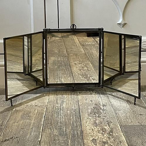 1920's Folding Travel Mirror