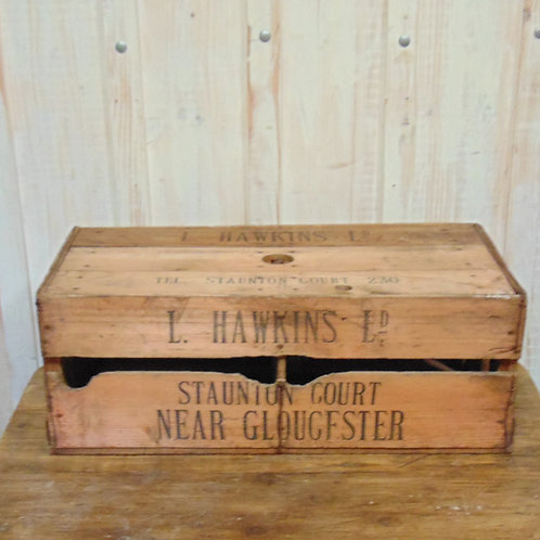 Wooden L Hawkins Ltd Egg Box