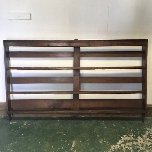 19th C. Country House Oak Plate Rack