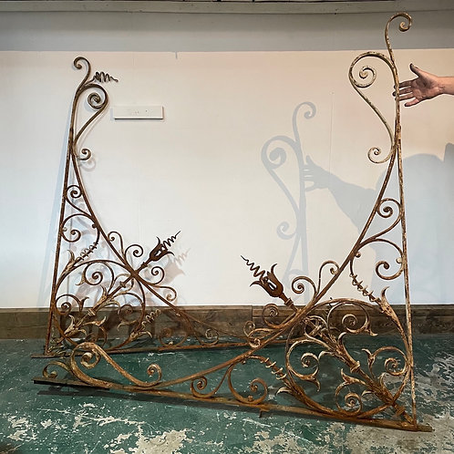 French 19th C. Wrought Iron Architectural Brackets