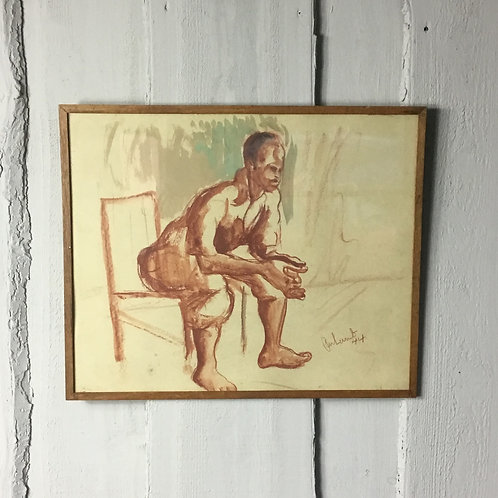 Watercolour signed and dated Lamb '44