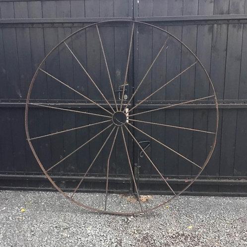 Large Iron Wheel, garden decoration