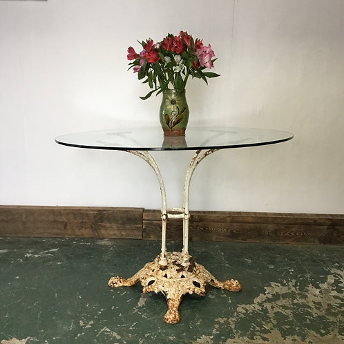 Victorian French Cafe Table with Glass Top