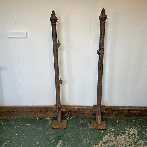 Victorian Cast Iron Gate Posts