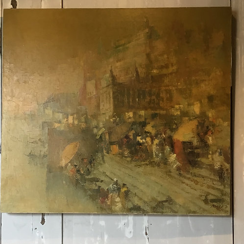 Oil on Canvas Signed and Dated Nayak '71
