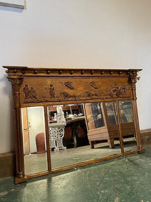 Victorian Triptych Over Mantel Mirror