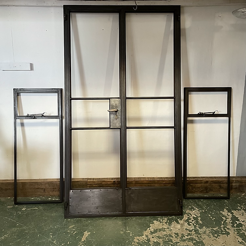 Refurbished Crittall Door and two side windows.