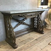 Victorian Cast Iron Console Table