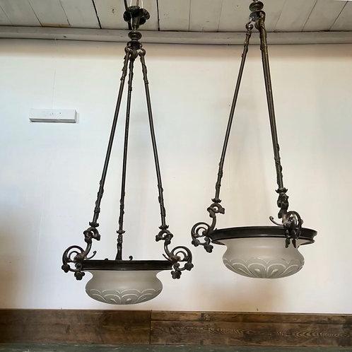 Victorian Bronze Plafonniers