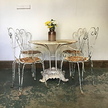 1950's French Bistro Cafe Table and Chairs