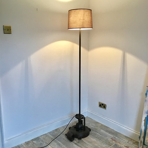Upcycled Industrial Floor Lamp