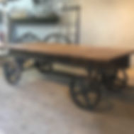 Large Vintage Industrial Trolley Table.  Great as a retail display or for hotel foyer decor