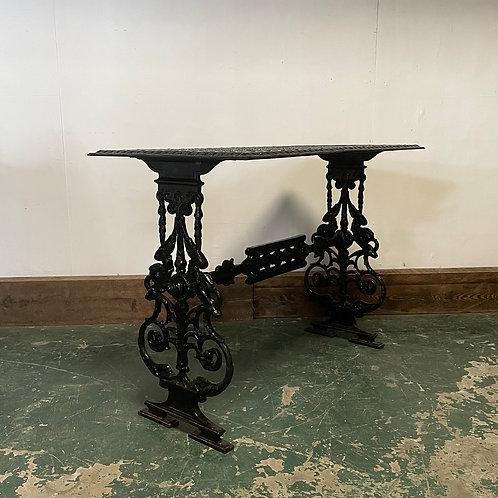 A 19th C. Cast Iron Garden Patio Table