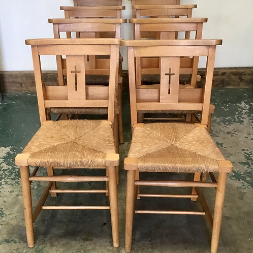 Set of 8 Chapel Chairs