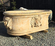Travertine Garden Planter
