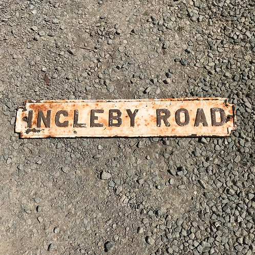 Cast Iron INGLEBY ROAD Street Sign