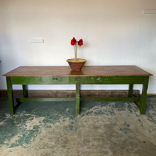 Early 20th Century Pine Work Bench Table