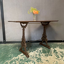 Victorian Cast Iron and Mahogany Console Table