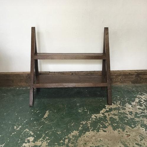 Vintage Oak Shop Window Display Stand