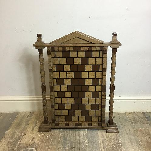 Primitive Painted Wooden Panel