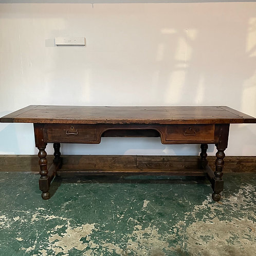 19th C. Fruitwood and Oak Buffet Serving Table