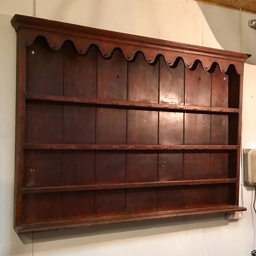 Old Country Oak Plate Rack