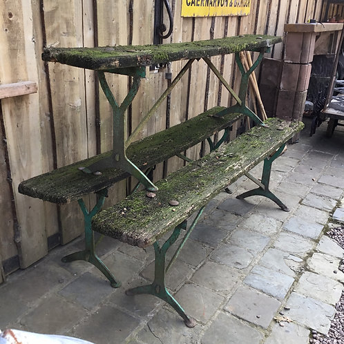 Early 20th C. Oak Garden Benches
