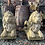 Pair of Stone Lion Garden Statues