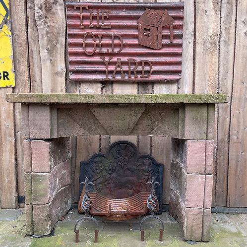19th Century Sandstone Fireplace