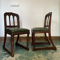 A pair of 19th Century Oak Ceremonial Chairs