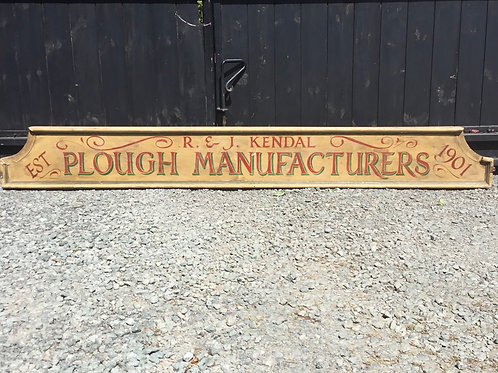 Early 20th C. Tradesman Advertising Sign