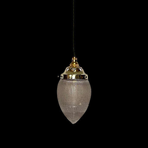 Edwardian Holophane Pendant Light