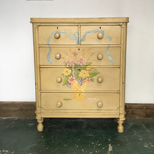 Victorian Pine Painted Chest of Drawers