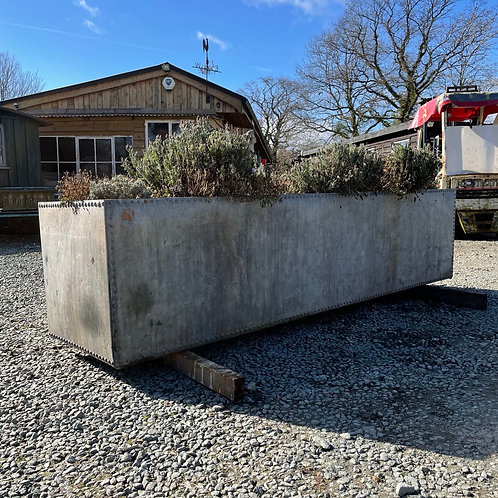 Large Riveted Galvanised Trough