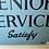 Vintage Tin Advertising Sign for Senior Service Cigarettes