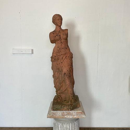 Mid 20th C. Terracotta Statue of Venus