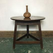 A 19th C. Oak Cricket Table