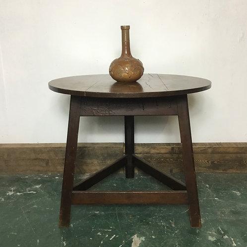 Mid 19th C. Oak Cricket Table