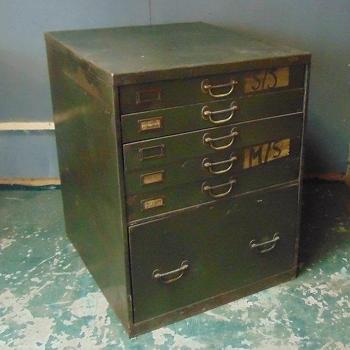 Vintage Industrial Workshop Garage Cabinet