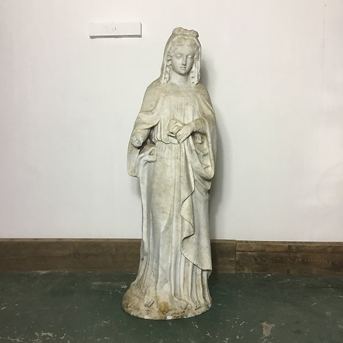 Victorian Carved Marble Statue of a woman