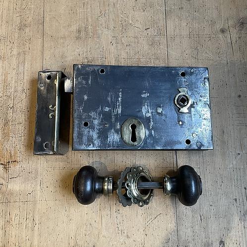 Victorian Rim Lock with key