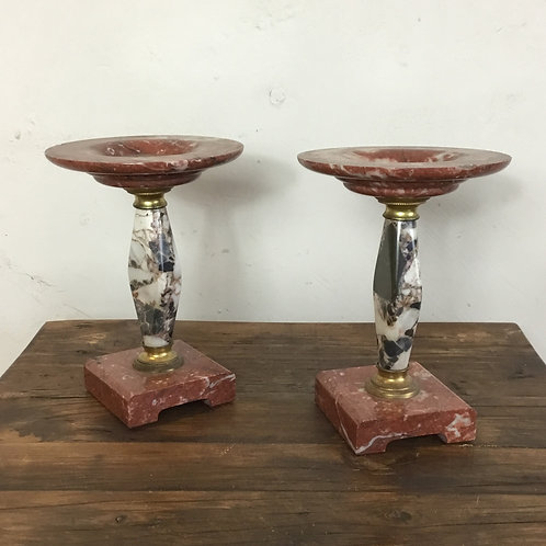 Pair of Marble Garnitures